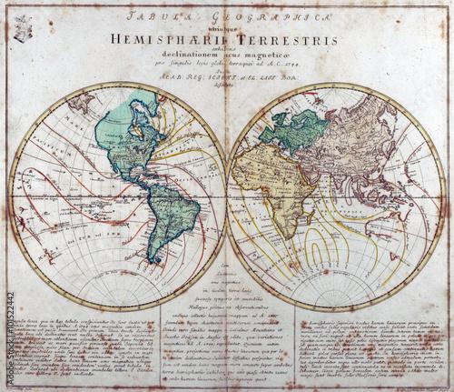 In de dag Wereldkaart vintage map