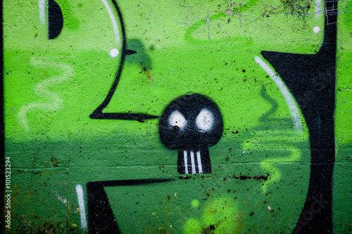 Graffiti Petite Tête De Mort Buy This Stock Photo And