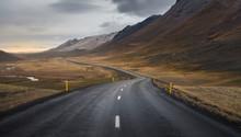 Dark Asphalt Road Perspective ...