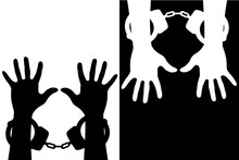 Hands In Handcuffs  Icon