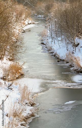 Foto auf Gartenposter Fluss Mouth of small river.