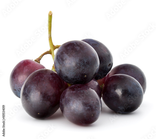Red grape berry bunch isolated on white background cutout Fototapete