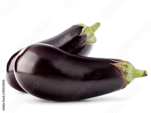 Photo  Eggplant or aubergine vegetable isolated on white background cut