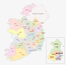 Map Of Ireland Administrative ...
