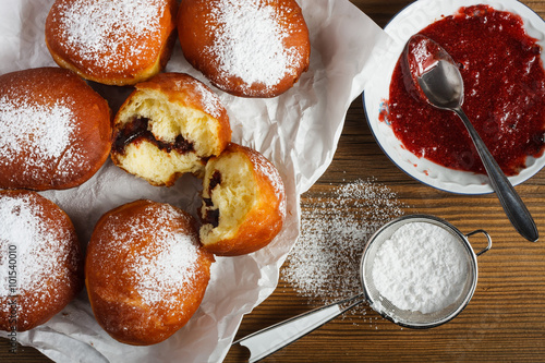 Photo  Homemade doughnuts