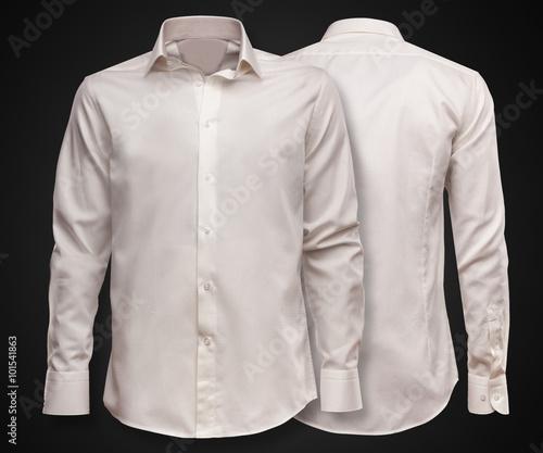 Luxury shirt on dark background. Businessman clothes