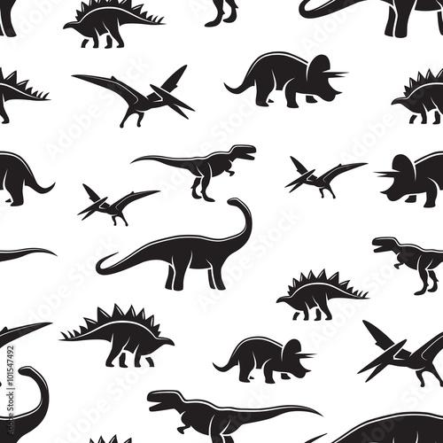Tapety do pokoju chłopca wzor-dinozaura