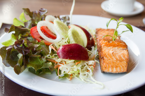 Salmon fish steak. - 101547871