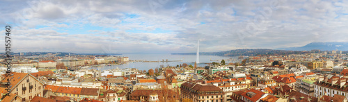 obraz dibond Aerial view of Geneva, Switzerland