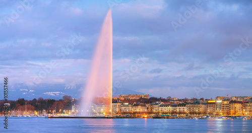 Overview of Geneva, Switzerland Fototapete