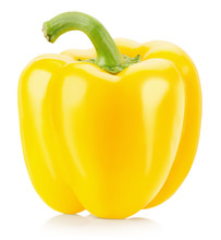 Yellow Pepper Isolated On The White Background