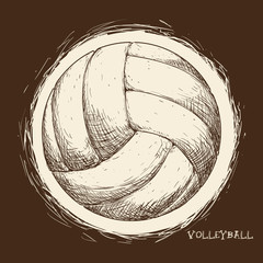 FototapetaVolleyball icon design