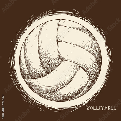Volleyball icon design  - 101579631