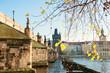 Charles Bridge on Vltava river in Prague, Czech Republic