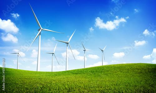 Fotografie, Obraz  Turbine Green Energy Electricity Technology Concept