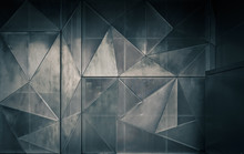 Metal Perforated Construction Of Many Triangles