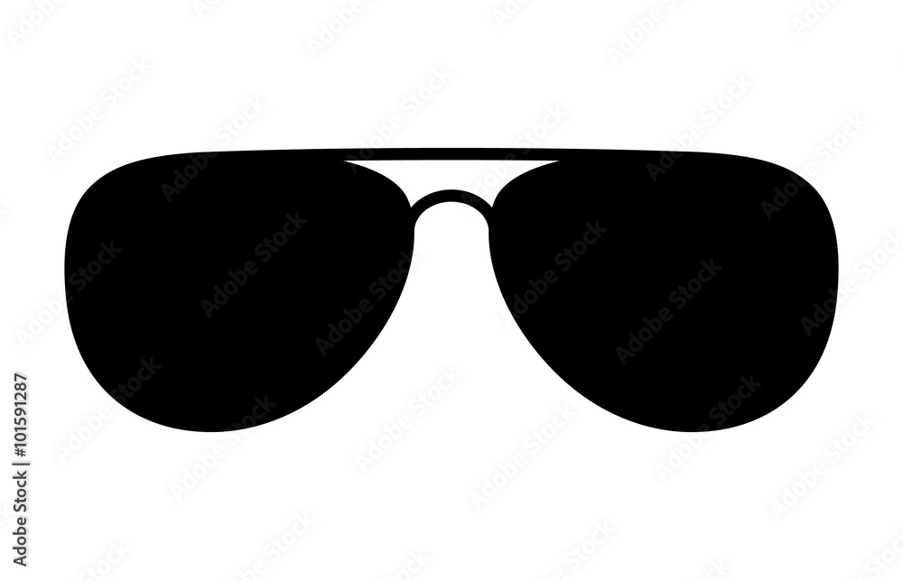Fotografie, Obraz Aviator sunglasses / shades protective eyewear flat icon for apps and websites