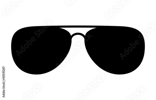 Canvas Print Aviator sunglasses / shades protective eyewear flat icon for apps and websites