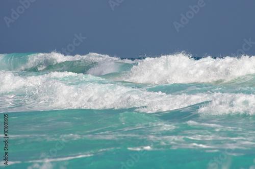 Stickers pour portes Eau Caribbean sea