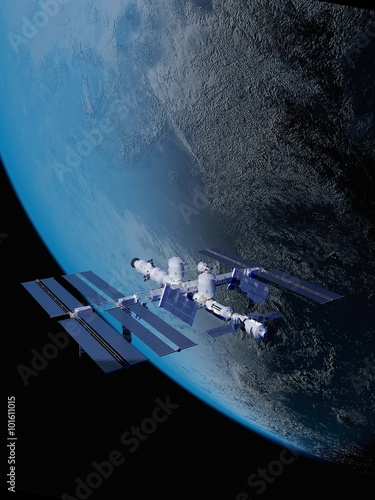 Tuinposter Nasa The space ship