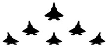 Silhouettes Of Group F 22 Figh...