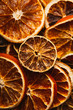 background of rings dried orange and lemon