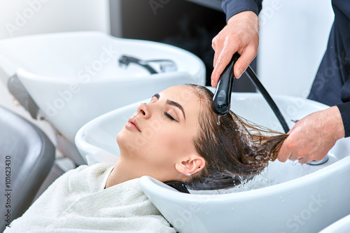 shampoo for hair, beauty salon, hair wash Poster
