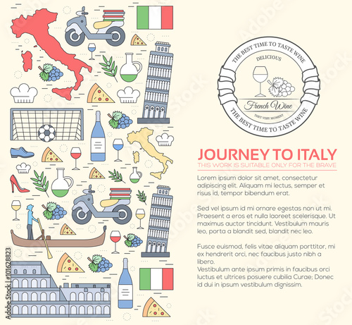 Fotografía Country Italy travel vacation guide of goods, places and features