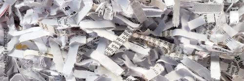 Valokuva  Papierschnipsel aus dem Aktenvernichter