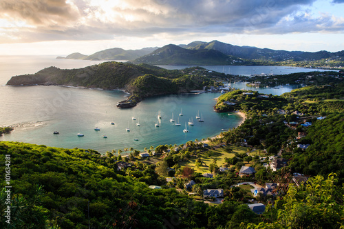 Sunset at English Harbor, Antigua and Barbuda Wallpaper Mural