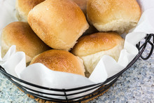 Fresh Baked Dinner Rolls In Th...