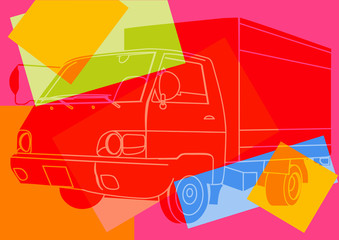 Fototapeta Camion pop art
