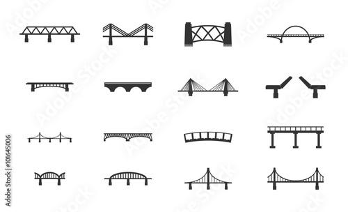 Zestaw ikon mostów