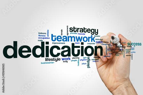 Fotografia  Dedication word cloud concept