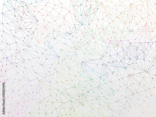 Molecule Backgound design wallpaper on white Canvas Print
