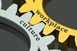 Leinwanddruck Bild - Workplace Culture concept on the gearwheels