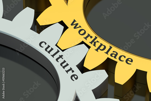 Fotografie, Obraz  Workplace Culture concept on the gearwheels