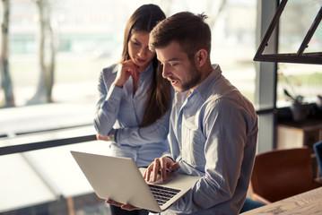 Naklejka Checking business solutions