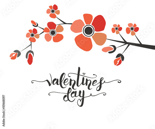 Cadres-photo bureau Cartoon voitures Hand sketched Valentine's Day text as Valentine's Day logotype,