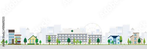 Fotografie, Obraz  病院 家 風景 背景