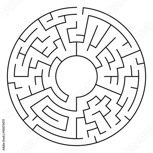 Circle Maze Vector Wallpaper Mural