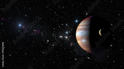 Photographie Planet Jupiter in outer space