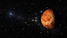 Planet Venus In Outer Space. Elements Of This Image Furnished By NASA