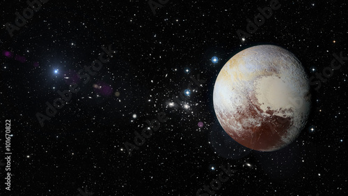 фотография Planet Pluto in outer space