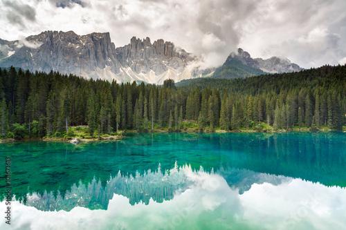 Fotografie, Tablou  Lake Carezza, Dolomites, Italy