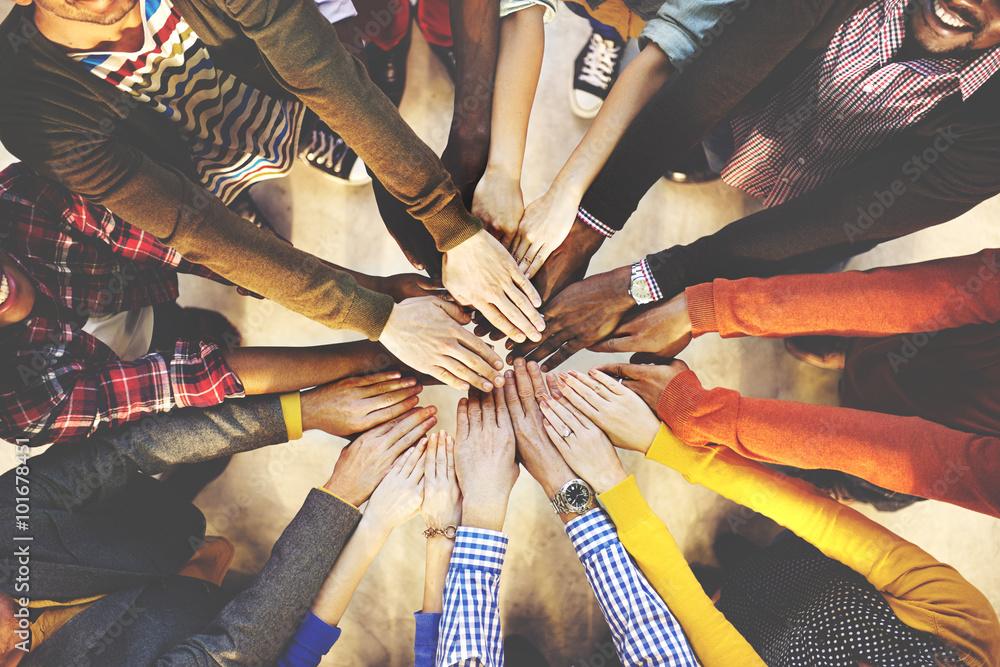 Fototapeta Team Teamwork Togetherness Collaboration Concept