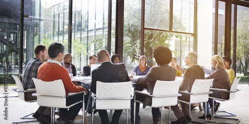 People Meeting Communication Corporate Teamwork Concept Canvas Print
