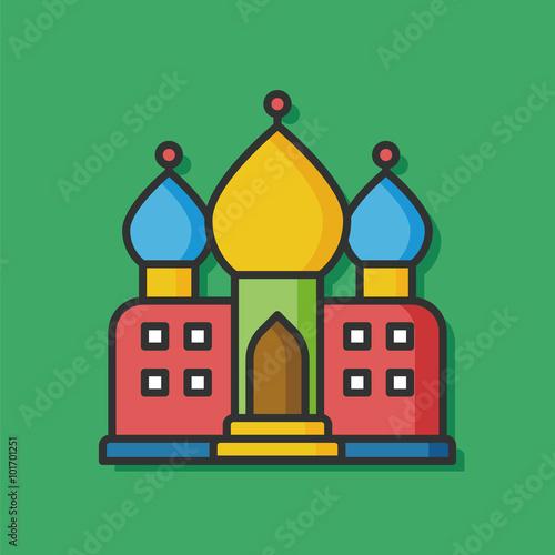Papiers peints Chateau castle building vector icon