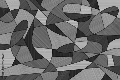 Photo A Cubist Abstract Background with Swirling Lines