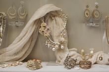 Show Room Window With Jewelry